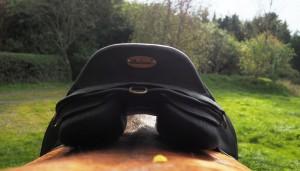 Baloun sadlen har paneler, der sikrer fuld rygsøjlefrihed. Foto. hestezonen.dk