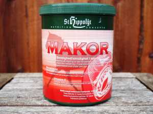 Makor fra St. Hippolyt Letoptageligt magnesium med vitamin E, C og B12 Foto. hestezonen.dk